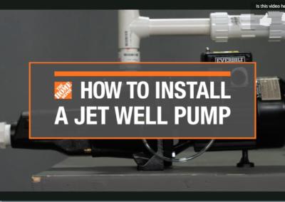 DIY Install Jet Well Pump video